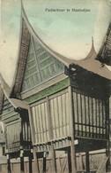 Indonesia, SUMATRA MANINDJAN, Minangkabau Paddy Shed (1910s) Postcard - Indonesië