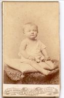 Photo Foto Hard Karton - Baby -  Fotograaf H. Boute - Dooreman Gent - Ancianas (antes De 1900)