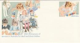 Australië 1985, Postwaardestuk 'Hulp Aan Dove En Blinde Kinderen 125 Jaar' - Other