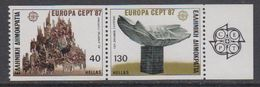 Europa Cept 1987 Greece 2v From Booklet ** Mnh (44397) - 1987