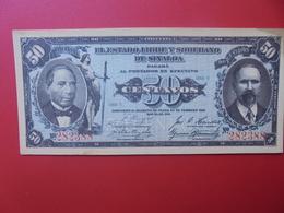 MEXIQUE (SINALOA) 50 CENTAVOS 1915 CIRCULER (B.6) - Mexico