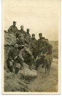1442. CPA PHOTO  OULCHES 1915 GROUPE DE SOUS-OFFICIERS DU 12è REGIMENT D'INFANTERIE 6è Cie - Guerre 1914-18
