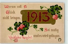 52675005 - 1913 Kleeblatt Neujahr - New Year