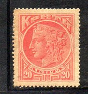 APR2399 - CRETA 1900 , Unificato N. 4  *  Linguella (2380A) - Creta