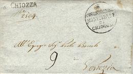 1817 - Lombardo-Venetie - Lettre De CHIOZZIA   ( Voll. N°2 )  Taxe 9   Pour Venezia - ...-1850 Voorfilatelie