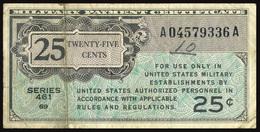 UNITED STATES 1946 - MILITARY PAYMENT CERTIFICATE (SERIES 461) 25 CENTS OFFER!!! - Certificati Di Pagamenti Militari (1946-1973)