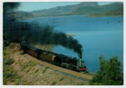 SOUTH AFRICA    TRAIN- ZUG- TREIN- TRENI- GARE- BAHNHOF- STATION- STAZIONI  2 SCAN  (VIAGGIATA) - Trains