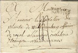 """1788- Lettre  De """" VALENCE / DAUPHINE """" ( Drôme ) Lenain  L6 - Marcophilie (Lettres)"""