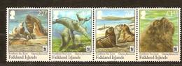 Falklands 2011 Micheln°  1143-1146 *** MNH  WWF Faune Zeeleeuw Sea Lion - W.W.F.