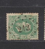 COB 30 Oblitération à Points 243 MENIN +3 - 1869-1883 Léopold II
