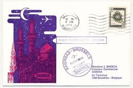IRAK - Enveloppe Premier Vol BAGDAD / BRUXELLES Par Sabena - 9 Juillet 1976 - Iraq