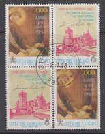 Vatican City 1993 Assisi 1v (2x+label) Used (44398) - Gebruikt