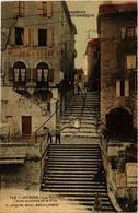 CPA JOYEUSE Les Escaliers Dans Le Centre De La Ville (398892) - Joyeuse