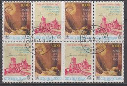 Vatican City 1993 Assisi 1v (+label) Bl Of 4  Used (44398B) - Gebruikt