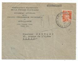 GANDON 10FR ORANGE SEUL PNEUMATIQUE PARIS 48 1945 AU TARIF - 1945-54 Marianne Of Gandon