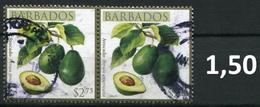Barbados - Früchte / Fruits 2011 - 2,75 $ Im Paar / Pair - Oo Oblit. Used Gebruikt - Barbados (1966-...)