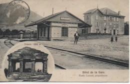 88 RAON-sur-PLAINE  La Gare Et Hôtel De La Gare - Raon L'Etape