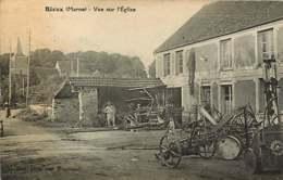 270819 - 51 RIEUX Vue Sur L'église - Matériel Agricole Vélo Pub Motricine Huile - Autres Communes