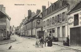 270819 - 51 MONTMIRAIL Rue De Paris - Chien Hotel De La Tour D'Auvergne âne Poupée Landau - Montmirail