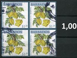 Barbados - Früchte / Fruits 2011 - 1,25 $ Im Viererblock - Bloc De 4 Gem. Scan / As Per Scan - Oo Oblit. Used Gebruikt - Barbados (1966-...)