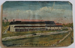 Rare Petite Peinture De Bagnard ?? Camp De Saint Jean Du Maroni Guyane Bagne - Documents