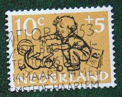 10 + 5 Ct Kinderzegel Child Welfare Kinder Enfant NVPH 599 (Mi 604) 1952 Gestempelt Used NEDERLAND NIEDERLANDE - Periodo 1949 - 1980 (Giuliana)