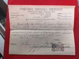 DOCUMENTO 26-7-1910 SEGUROS  COMPANHIA CONFIANÇA PORTUENSE - Portugal