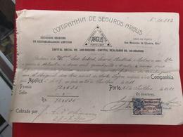 DOCUMENTO 26-7-1910   COMPANHIA DE SEGUROS ARGUS - Portugal