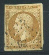 FRANCE ( POSTE ) : Y&T  13A ?  TIMBRE  BIEN  OBLITERE . - 1853-1860 Napoléon III