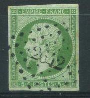 FRANCE ( POSTE ) : Y&T  12  TIMBRE  BIEN  OBLITERE . - 1853-1860 Napoléon III