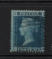 GB Victoria Line Engraved   2d Blue Good Used  With Faint Ivory Head - 1840-1901 (Viktoria)