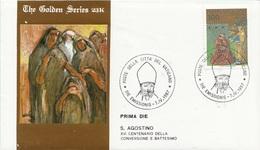 Vaticano 1987 Uf. 802 Sant' Agostino Prime Die Golden Series Con Certificato - Theologen
