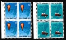 1983 San Marino Saint Marin EUROPA CEPT EUROPE 4 Serie Di 2v. MNH** Bl.4 - Europa-CEPT