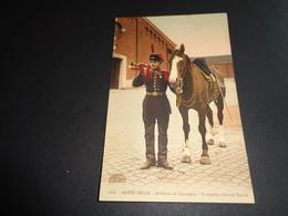 Armée ( 2 ) Belge   :  Artillerie De Campagne  - Trompette - Uniformes