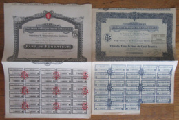 7 Actions Dont 3 Parts Fondateur Des Tuileries Et Briqueteries Lorraines - 1920 / 1926 - Achat Immédiat - Industrie
