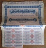 25 Actions De La Foncière De Hendaye Et Du Sud-Ouest Avec Coupons - 1910 - Achat Immédiat - Actions & Titres