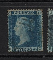 GB Victoria Line Engraved   2d Blue  Heavy Used - 1840-1901 (Victoria)