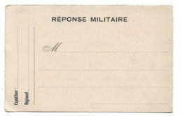 Correspondance Militaire, Franchise , Carte Vierge  Ref 10  Cartonnage épais - Guerre 1914-18