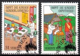 UNO Wien MiNr. 77/78 O Kampagne Für Kinderschutzimpfungen - Sonstige - Europa