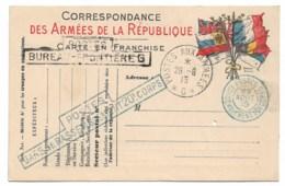 """Correspondance Militaire,  Carte Vierge  """" Postes Gare De Rassemblement 20e Corps"""" """"bureau Frontière G"""" Ref 5 - Guerre 1914-18"""