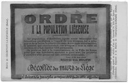 14 -18 : ANDENNE - LIEGE : Photo D'un Placard Du Général Von Bulow 22 Août 1914 - Oorlog 1914-18