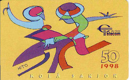 Cape Verde Chip 50 1998, Kola Sanjon,  Used - Kaapverdische Eilanden