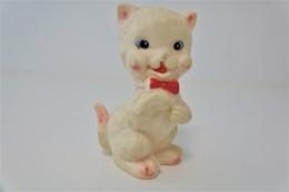 PIEPER POUET SQUEAKY: LEDRAPLASTIC CUTE CAT KAT CHAT - L=12  - ***  - M DEP ELEPHANT ITALY  - Rubber - Vinyl - 1960's - Schtroumpfs