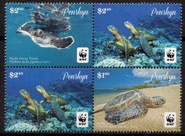 PENRHYN 2014 - Faune En Danger, Tortue Verte Du Pacific, WWF  - Neufs // Mnh - Penrhyn