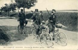 159, Camp De Chalons. Clairons Du Bataillon Cycliste. - War 1914-18