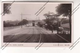 TRES RARE CPA CHAPEL ALLERTON : Queen Hill (tramways, Rouleau Compresseur, Panneaux Indicateurs Leeds, Adel, Eccup) - Leeds