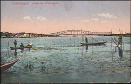 Feldpost BS Genesungsheim Greifenhagen Passende AK Hafen Mit Oderbrücke 15.3.15 - Besetzungen 1914-18