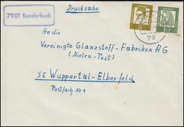 Landpost-Stempel Sonderbuch Drucksache ULM 24.4.1963 Nach Wuppertal - BRD
