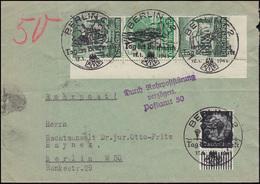 Rohrpost-Brief Mit ZD S 261 WHW Bauwerke Mit Zusatzfr. Versch SSt BERLIN 12.1.41 - Cartas