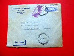 Liban : RARE Timbre De Bienfaisance N°6 (cote : 150€) + N°27/PA20 Sur Lettre De Beyrouth Pour Paris - 21/5/1949 - Libanon